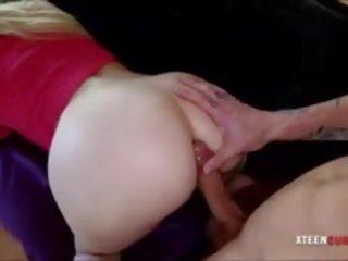 Big Butt Blondie Teen Victoria Paradice Eats Warm Cum